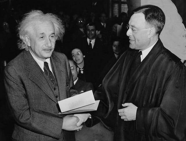 アインシュタイン博士ノーベル賞授賞式