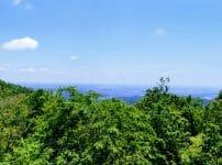 高野山頂上から都心の眺望画像