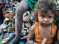貧しい貧困子供画像